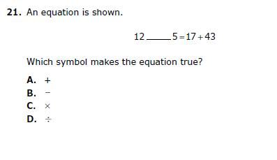 Which eqation makes the equation true?