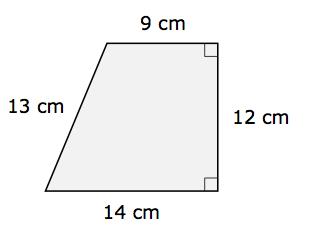 Right Trapezoid Area 5.3.2 area , surface area & volume scimathmn