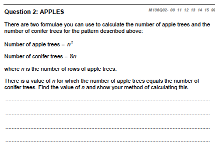 Apples question 2