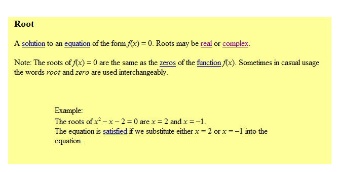 roots of a function