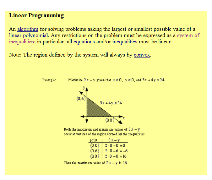 write an essay on problem of linear programming
