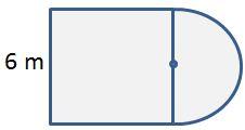 Perimeter of semicircle and square