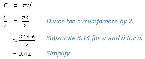 sample answer: circumference