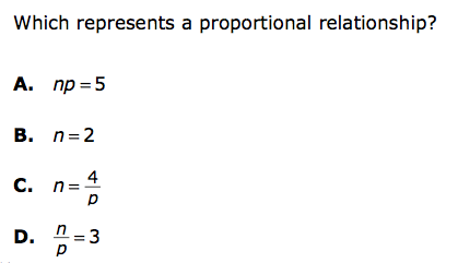 Which of these is a proportional relationship