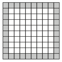 10 by 10 tiled grid
