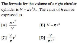 formula for cylinder ...
