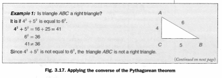 Applying the converse of the Pythagorean Theorem.