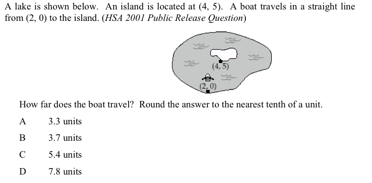 Question 7: Lake with island