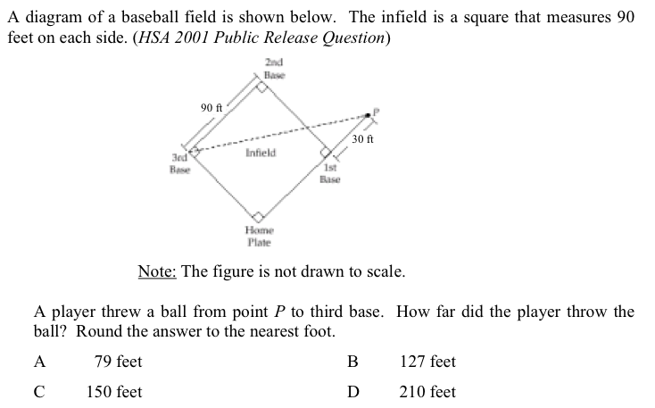 Question 8: basball diamond