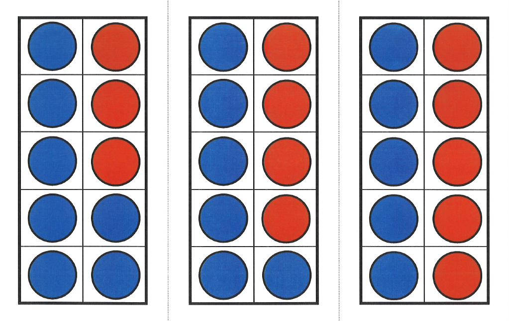 red and blue circles