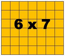 6 x 7 rectangle