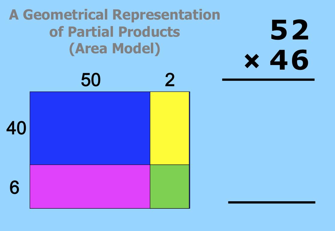 52 x 46 area model