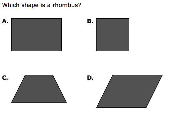 Which shape is a rhombus?