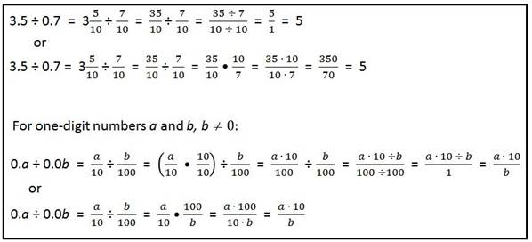 division of decimals and fractions