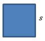 square: p = 4s
