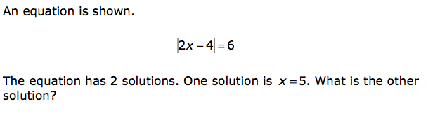 What is the other solution?