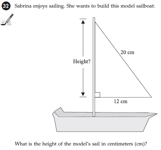 image029 Taks Test Questions Math on for year 5, for grade 7, for 5th graders,