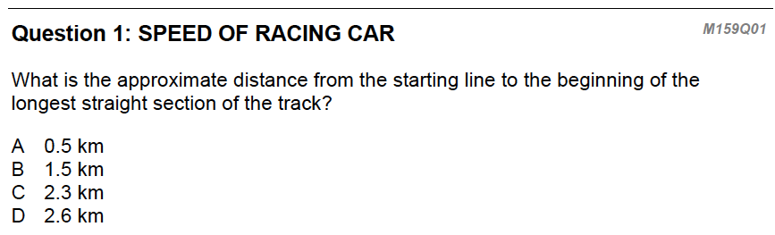 racing car question 1